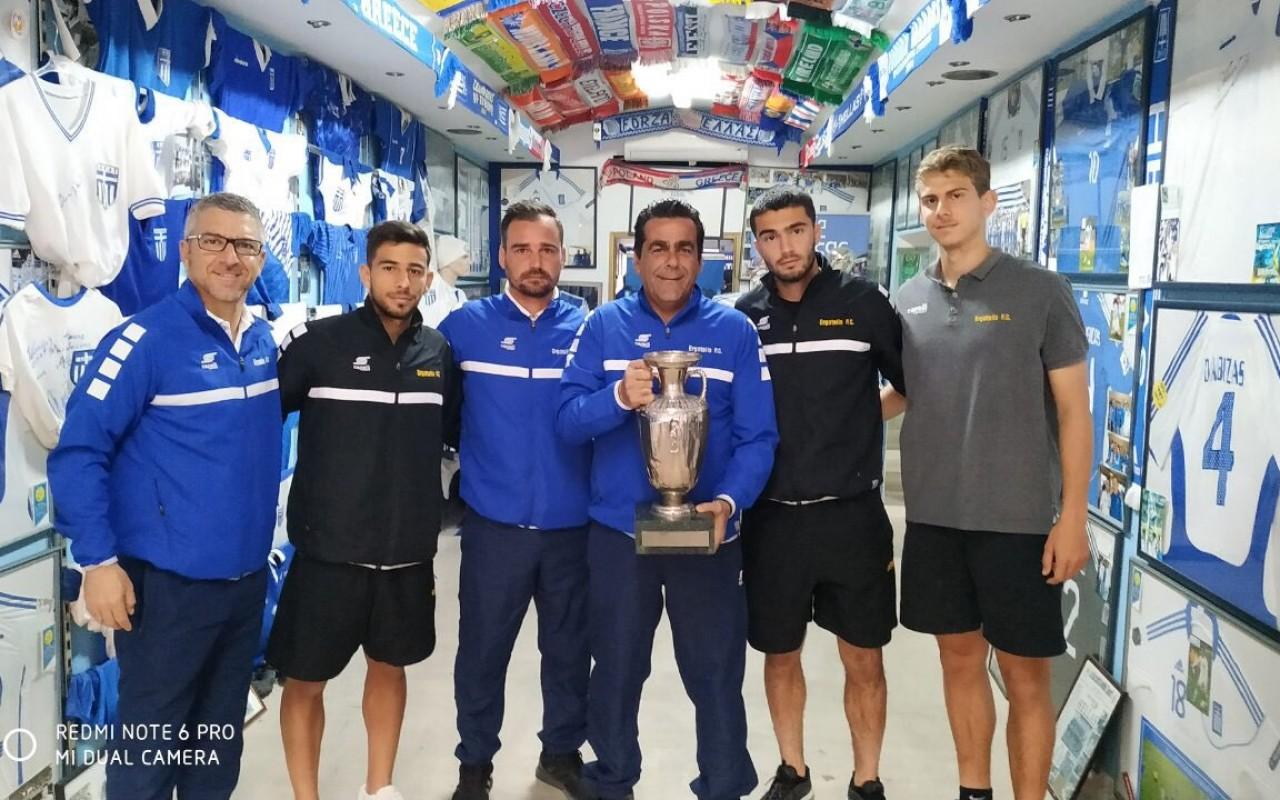 Επίσκεψη στο μουσείο της Εθνικής Ελλάδος ποδοσφαίρου «Γαλανόλευκος Φάρος»